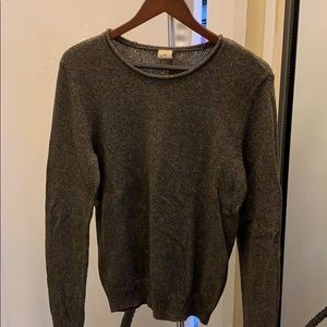 Olive green knit crewneck sweater